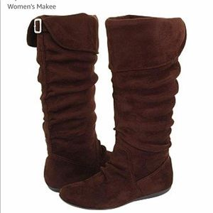 Women's REPORT Slouch faux suede boot